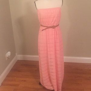 Ya dress NWT peach long maxi dress size large